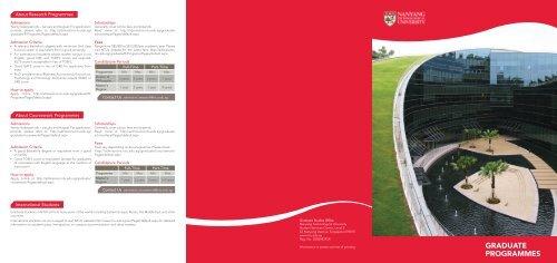 GRADUATE PROGRAMMES - Admissions - Nanyang Technological ...