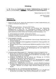 Einladung zur 6. Sitzung am 01.12.2010 - Stadt Radevormwald