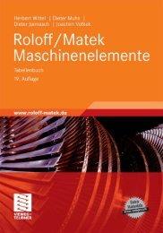 Roloff/Matek Maschinenelemente: Normung, Berechnung ... - PP99