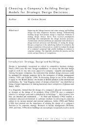 Models for Strategic Design Decisions - zicklin : school of business