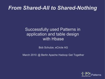 Usage Patterns for Apache HBase