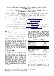 REXUS-4: VEHICLE AND SUBSYSTEM DESIGN, FLIGHT ... - ESA