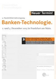 Banken-Technologie. Banken-Technologie.