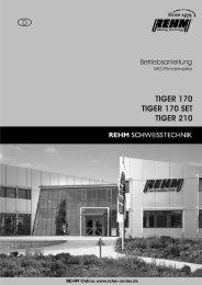 TIGER 170 TIGER 170 SET TIGER 210