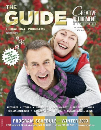 winter 2013 - Creative Retirement Manitoba Home Page