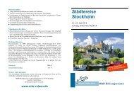 Städtereise Stockholm - MBR Bildungsreisen