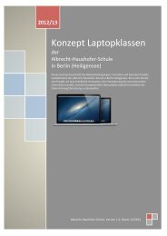 Konzept Laptopklassen - Albrecht-Haushofer-Schule