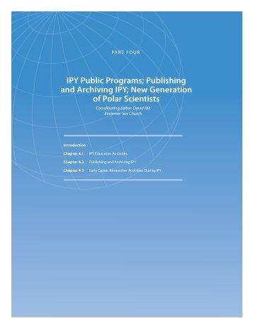IPY Public Programs; Publishing and Archiving IPY - International ...