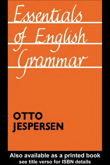 Essentials of English Grammar - Download My PDF