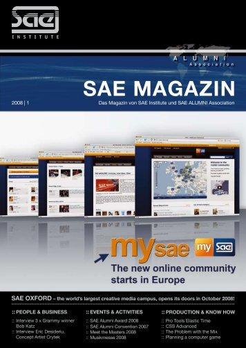 SAE MAGAZIN - SAE Alumni Association - SAE Institute