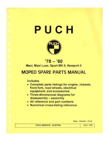 PUCH - Project Moped Manual