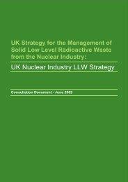 NDA Low Level Waste: - Nuclear Decommissioning Authority