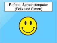 Referat: Sprachcomputer (Felix und Simon)
