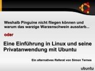 Eine Einführung in Linux und seine Privatanwendung mit Ubuntu