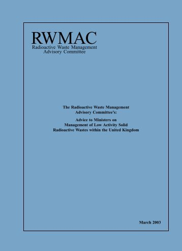 RWMAC Report: Low Activity Solid Radioactive Waste - collections ...
