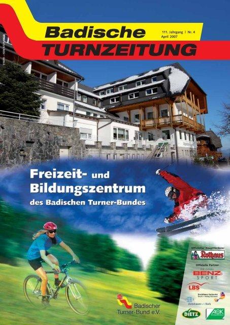 111. Jahrgang | Nr. 4 April 2007 - Badischer Turner Bund