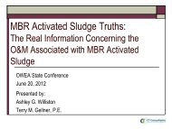 MBR Activated Sludge Truths: - Ohio Water Environment Association