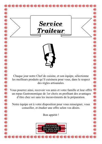 CARTE TRAITEUR - Grande Boucherie du Molard