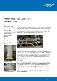 MBR Pilot Plant Research Beverwijk The Netherlands - Dhv
