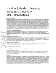Handbook Guide to Learning Woodbury University 2011-‐2012 ...