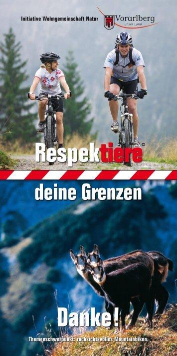 Flyer Rücksichtsvolles Mountainbiken (4.0 MB ) - Vorarlberg