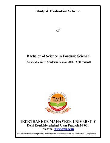 Study & Evaluation Scheme of Bachelor of Science in Forensic ...