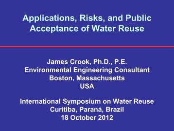 Applications, Risks, and Public Acceptance of Water Reuse