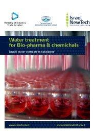 Water treatment for Bio-pharma & chemichals