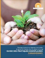 Guide des pratiques exemplaires canadiennes - Autisme Central