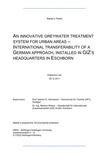 An innovative greywater treatment system for urban areas ... - SuSanA