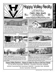 Happy Valley Realty - Real Estate Press of Cochise