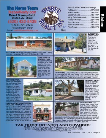 Bisbee, AZ 85603 - Real Estate Press of Cochise