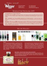 Newsletter Frühling 2011 - Parfümerie Wigger