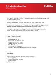 Release Information Avira System Speedup (pdf)