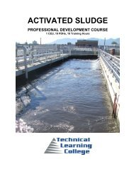 ACTIVATED SLUDGE - Technical Learning College