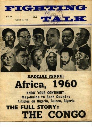 Fighting Talk Volume 14 number 3 August 1960 - DISA