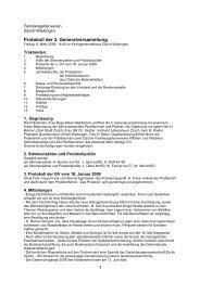 Protokoll der 3. Generalversammlung - Familiengartenverein Zürich ...