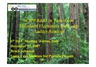 SCIPP R&D on Time-Over- Threshold Electronics ... - 6th SILC Meeting
