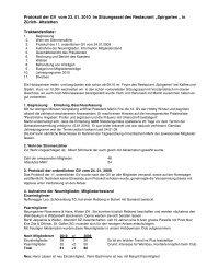Protokoll der GV vom 23 - beim Hobbywinzer Club Schweiz