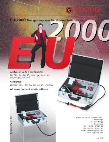 EU-2000 Flue gas analyzer for thermal installations