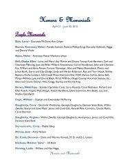 Honors & Memorials