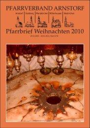 Pfarrbrief Weihnachten 2010 - Pfarrverband Arnstorf