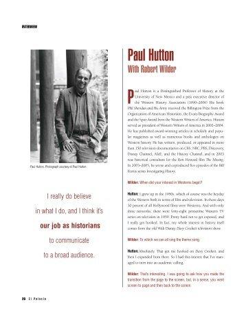 Interview with Paul Hutton - El Palacio Magazine