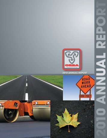 2010 ORBA Annual Report - Ontario Road Builders' Association