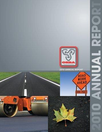 2010 ORBA Annual Report - Ontario Road Builders' Association