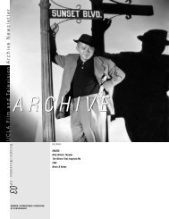 November 2003 Newsletter - UCLA Film & Television Archive