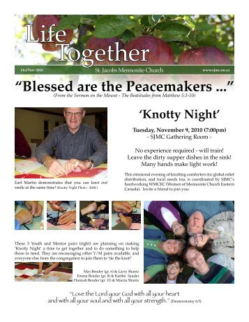 Download complete newsletter. - St Jacobs Mennonite Church