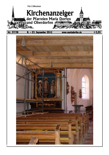 Kirchenanzeiger 8. - Pfarrverband Dorfen