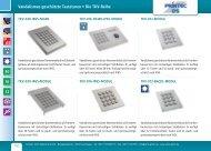 Edelstahltastatur - Nummernblock Datenblatt - Wirth Elektronik GmbH