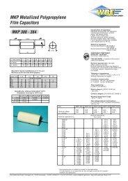 MKP Metallized Polypropylene Film Capacitors - Wirth Elektronik ...